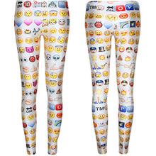 Goldland Free Shipping F176 2015 Women's Emoji Jogger Leggings Exercise Pants Casual Hip Hop Funny Plus Size Sweatpants