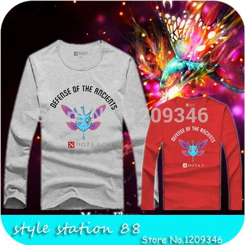 2015 Dota Dota 2 Puck Faerie Dragon Design Long Sleeve T shirt Cotton Fashion Men T-shirt Hip Hop Unisex Camisetas(China (Mainland))