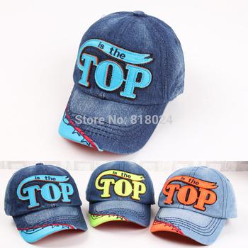 Дети бейсболки младенцы имеет и шапки надписи верхний джинсовый деним кепка мальчики-младенцы ...