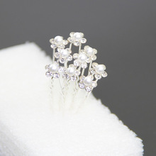 Sanwony Freeshipping New 20Pcs Wedding Bridal Pearl Flower Crystal Hair Pins Clips Bridesmaid