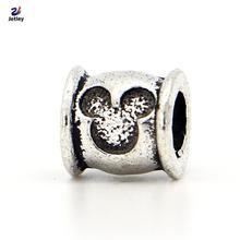 Fashion Wholesale 1Pc Fashion Silver Bead Charm European Mouse Head Bead Fit Pandora Bracelets & Bangles