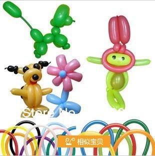 Free shopping 100pcs/bag Long Variety Magic Balloon DIY balloon long for Christmas holidays ,party(China (Mainland))