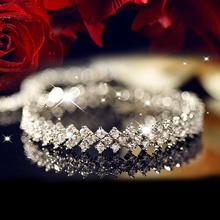 OPK Clear Austrian Crystal Bracelet Platinum Plated AAA Zircon CZ diamond Women's Wedding Bracelet Jewelry, DS936(China (Mainland))