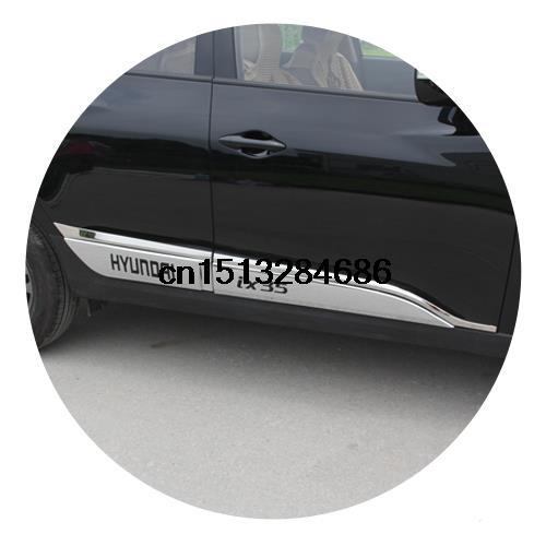 High quality ABS Chrome Side Door Body Molding Trim for 2010 2015 Hyundai IX35 Accessories
