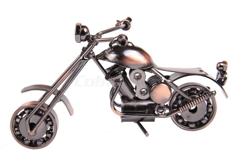 Merrychirs mas handmade heavy iron metal simulation motorcycle model creative gift arts and crafts decoration toy(China (Mainland))
