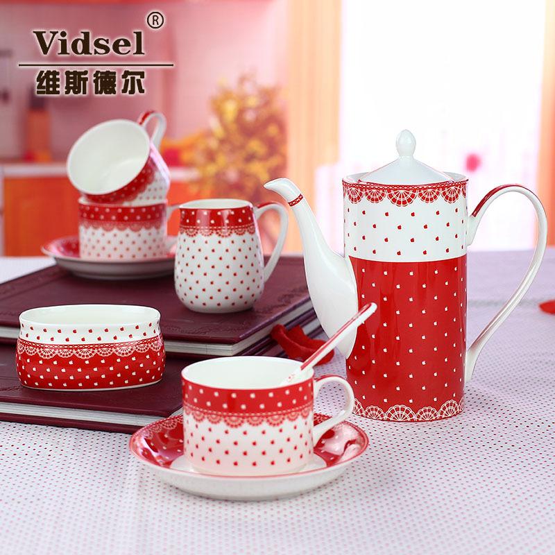 European shipping bone china mugs English Afternoon Tea Set Ceramic Tea Coffee upscale wedding gift(China (Mainland))