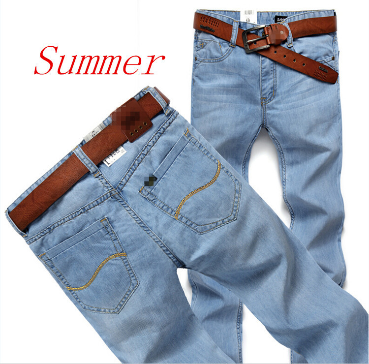 Brand New 2015 Men's Fashion Jeans Hot Jeans For Men Sale Men's Pants Casual Slim Straight Trousers Free Shipping!(China (Mainland))