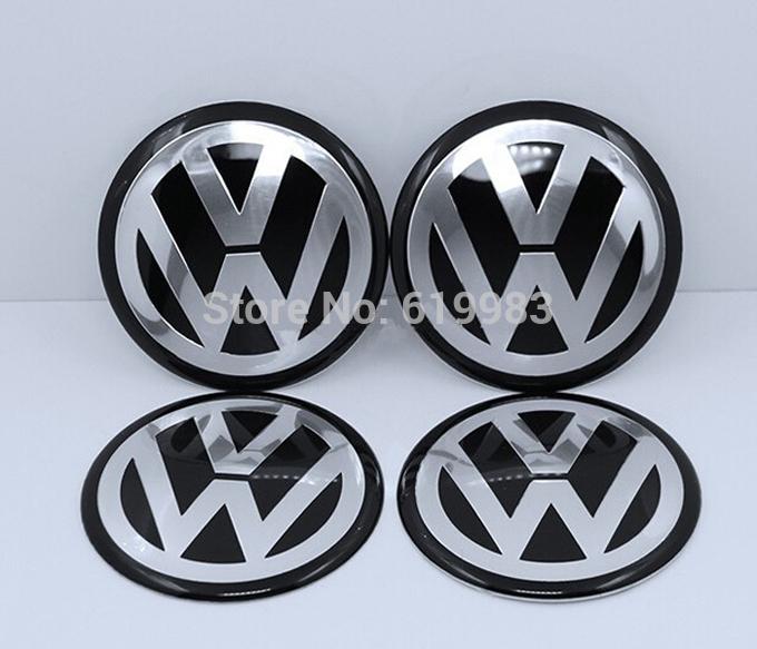 4pcs 90mm 3D Aluminum VW Wheel center caps Sticker Decal volkswagens LOGO badges Passat Golf New ,Car styling, Free shipping(China (Mainland))