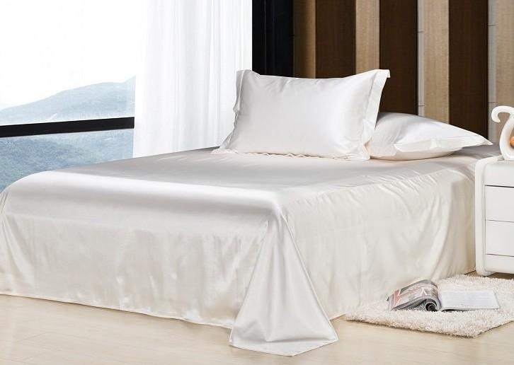 7 pcs luxo branco jogo de cama de cetim lençóis de seda califórnia rei queen size de solteiro completo colcha capa de edredão equipado cama em um saco de linho(China (Mainland))