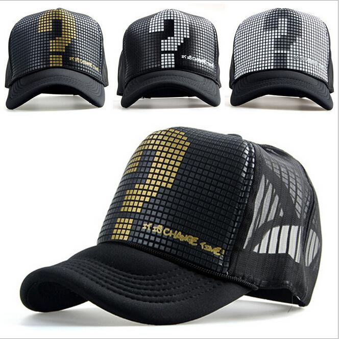 2015 Summer unisex outdoor Letter sports Snapback Caps mesh baseball hat net truck hip hop Visor Sunbonnet Sun hat for Men women(China (Mainland))