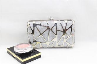 Fashion Women Hard Case Mesh Metal Box Clutch Shoulder Ladies Handbag Evening Bag Purse(China (Mainland))