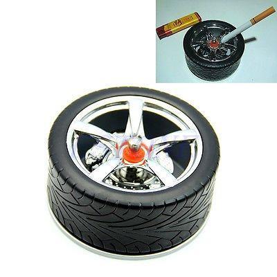 C18 free shipping 1pc New Wheel Tyre Shaped Spinning Type Ashtrays Unique Style Cigarette Ashtray(China (Mainland))