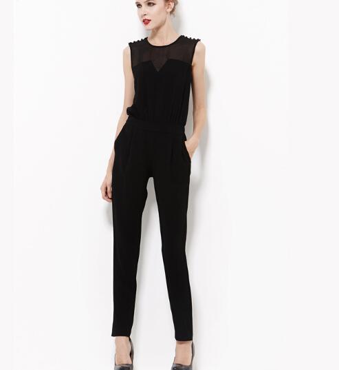 Dorp Shipping 2015 Summer Women plus size harem pants Jumpsuits,Euro Fashion trousers Playsuits Big Size S M L XL 2XL 3XL(China (Mainland))