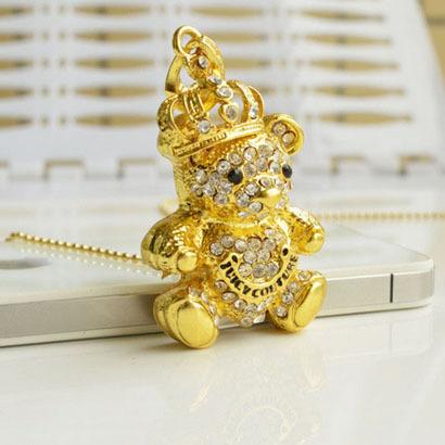 100% real capacity Stock Wholesale Crystal Koala Usb 2.0 Memory Full Capacity Flash Drive Jewellery Necklace Animal Gifts(China (Mainland))