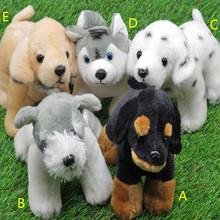 free shipping 15cm cute musical singing simulation dog peluches animals plush stuffed toys puppy kids toys  plush electronic toy(China (Mainland))