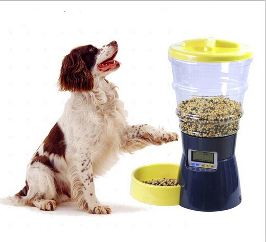 big pet dog automatic feeder with LCD screen 8L large safe and clean dog feeding bowel 1217(China (Mainland))