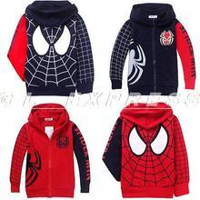2015 Spider Man Marvel Hero Kids Boys Girls Sweatshirt Hoodies Clothes Unisex Coat(China (Mainland))