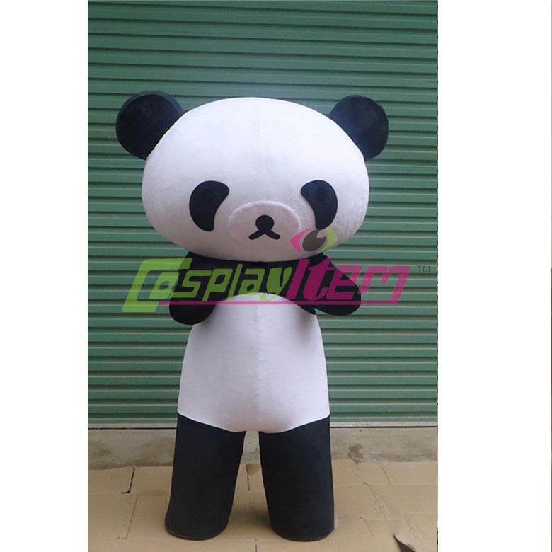 2015 custom made PANDA BEAR Mascot Costume Adult Size Fancy Dress Halloween animal cosplay costumes(China (Mainland))
