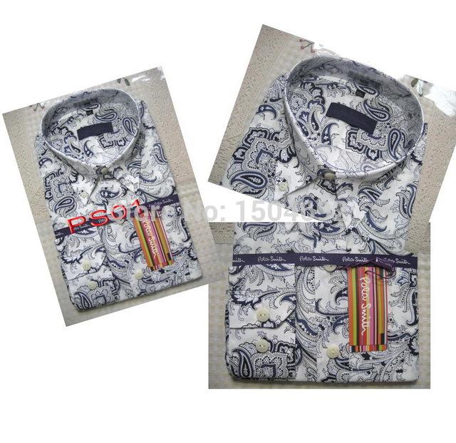 produto PS06# New Pola smith Brand shirt Slim Casual men  shirts High Quality Mens dress shirts long sleeve men shirt