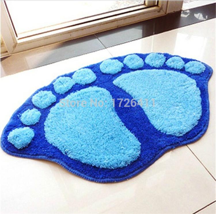 Fashion Cute Footprints Big Feet Bath Mat Door Mats On Foot Pad Rug.Household itemst at the door mat carpet floor free shipping(China (Mainland))