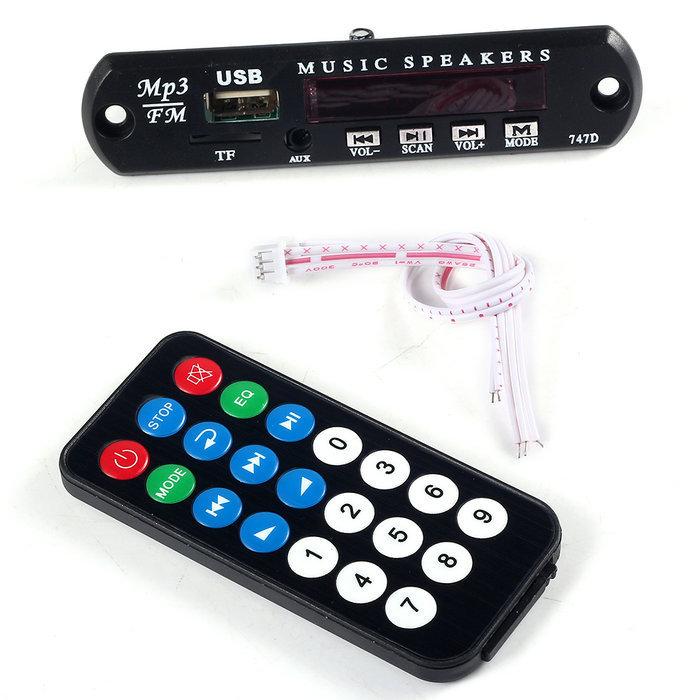 Электроника JUNE MP3 WMA 12V USB TF 12Y16AEB06