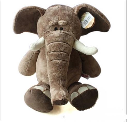 35cm plush toys Christmas gift stuffed soft toys elephant factory supply freeshipping(China (Mainland))