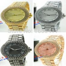 Venta caliente nueva moda Kors mujeres del reloj Luxury Brand aleación relojes de cuarzo digitales hombres mujeres hombres diamante calendario reloj 6MK7