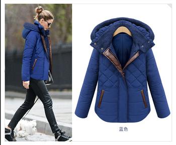 2015 новых женских зимнее пальто полупальто теплая толщиной женщина зимнее пальто ватник короткий параграф тонкий бесплатная доставка