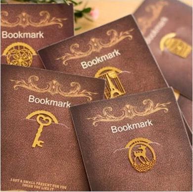 exquisite dream laciness metal bookmark mini clip book mark cutout bookmarks fashion book marker 6pcs/lot ARC172(China (Mainland))
