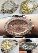 2015 ventas calientes nueva moda mujeres del reloj marca Kors aleación relojes de cuarzo digitales hombres mujer hombre calendario reloj 5MK6