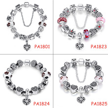 2015 High Quality Charms Beads fit pandora bracelet 925 Silver Crystal Big Hole Beads Fashion Bracelets & Bangles for Women