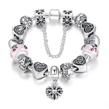 2015 High Quality Charms Beads fit pandora bracelet 925 Silver Crystal Big Hole Beads Fashion Bracelets