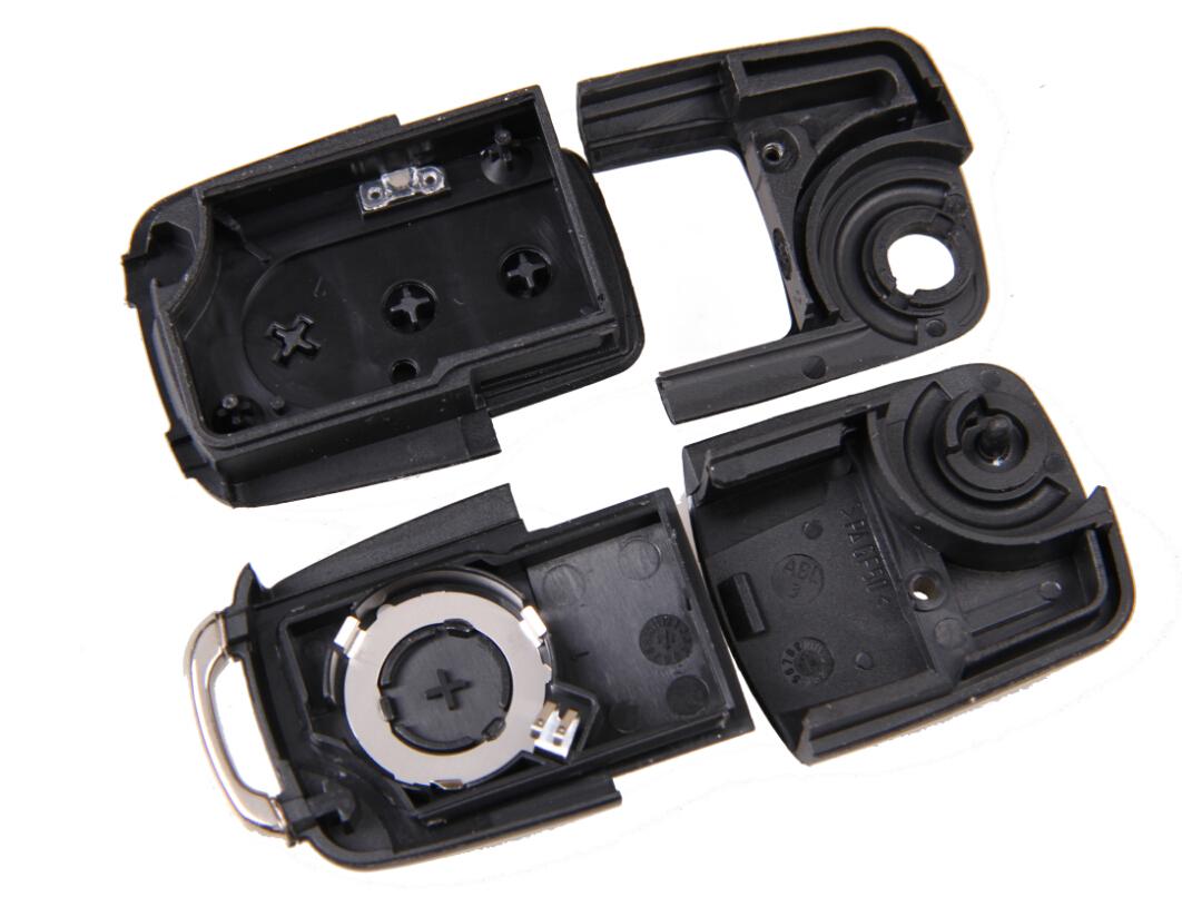 Folding Car Remote Flip Key Shell Case Fob For Volkswagen Vw Jetta Golf Passat Beetle Polo