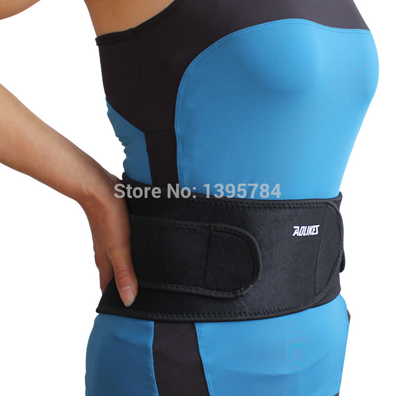 2015 adjustbable sports pressurized abdomen waist support back support brace fitness bodybuilding Belt for Lose weight(China (Mainland))