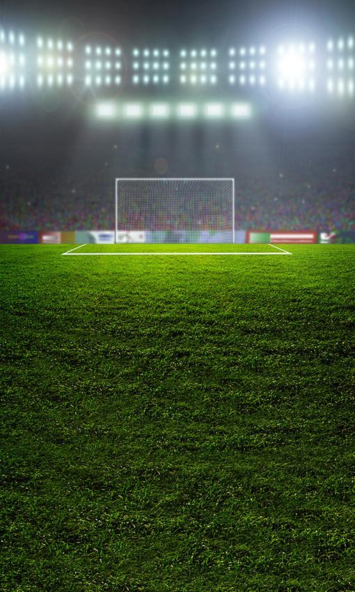 8x15FT Green Football Court Field Audience Spot Light Goal Stadium Photography Studio Backdrops Background Vinyl 5x10 8x12 10x20(China (Mainland))