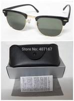 Free shipping  Brand Clubmaster Sunglasses 3016 Men Sun Glasses Women Retro Round Sunglass Gafas De Sol With Logo and Box