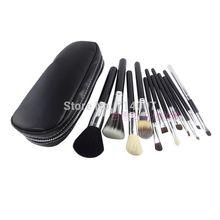Free Shipping NEW Makeup Brush 12 pcs Set Pouch Professional Brush ( 5 pcs /lot)