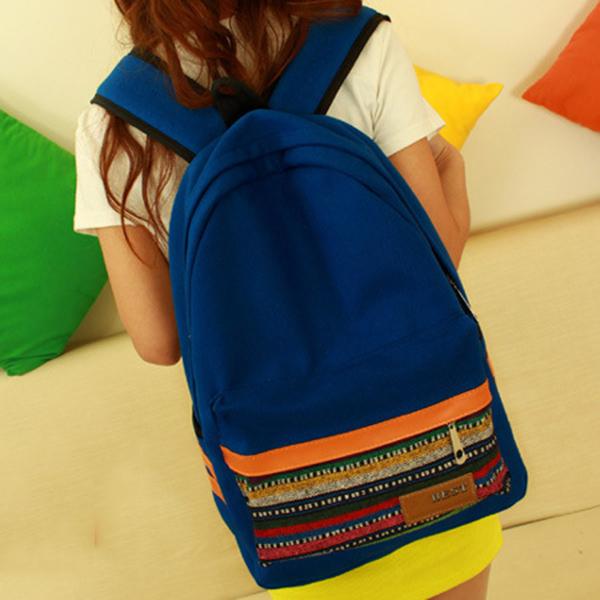 Ethnic Style Girls Backpack Shoulder Satchel School Bag Packbag Canvas Backpacks Small Backpack for Women School Bags for Boys(China (Mainland))
