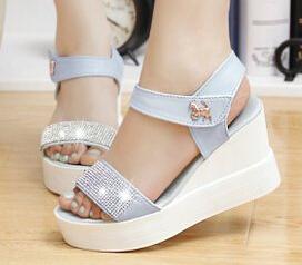 2015 women heel Sandals high quality ladies shoes Big Small Size Heels Platform Casual wedges fashion summer shose wkk239(China (Mainland))