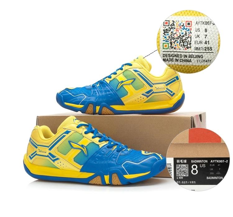 2015 nieuwste voering badminton schoenen li ning mannen professionele aytk007 badminton atletische schoen hard dragen li-ning sportschoenen(China (Mainland))