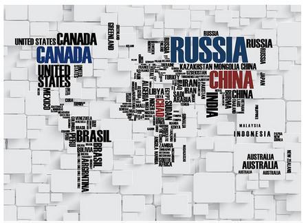 Free shopping 2015 novo contratado mapa do mundo letras tijolos configuração TV papel de parede(China (Mainland))