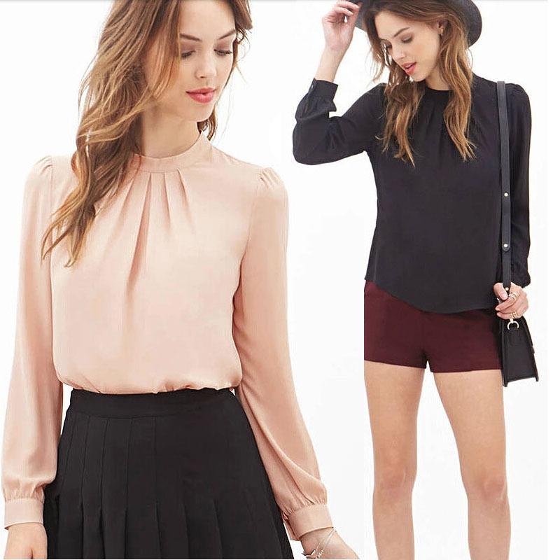 Feitong 2015 OL Style Blusas feminina Office Lady Blouses Sexy Chiffon Blouse Women Shirt Long Sleeve Casual shirt Free Shipping(China (Mainland))