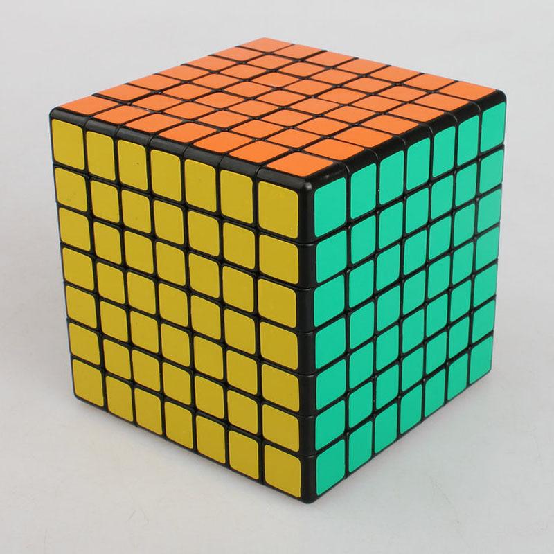 Shengshou Plastic 7x7x7 Magic Cube Puzzle Square Smoonth Twist Cubo Magico 7x7 Grownups Speed Stiker Cube Toys(China (Mainland))