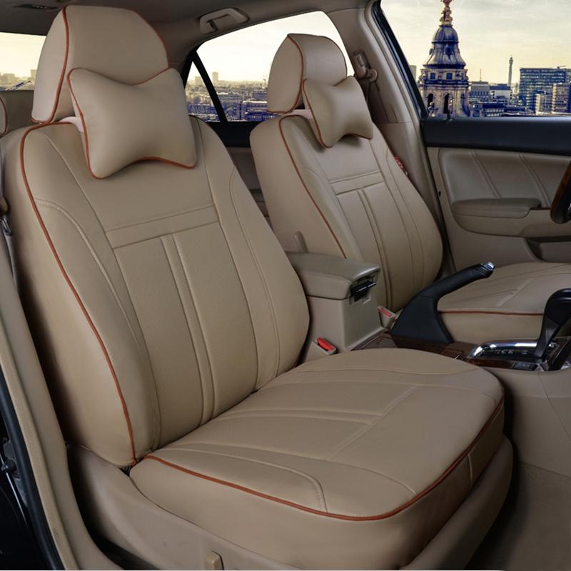 hyundai verna ix35/30 accent tucson elantra 8 sonata santa fe car seat covers auto leather four season general cushion black red(China (Mainland))
