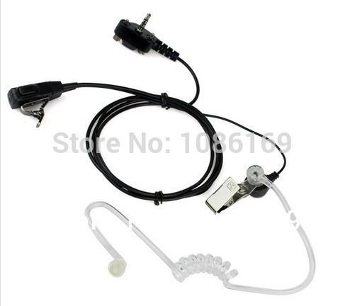 Рация устанавливает черный Ptt Mic тайное акустическая трубка-вкладыши - ухо наушник для вершины радио Evx-531 Vx130 Vx160 Vx180 Vx210 Vx400