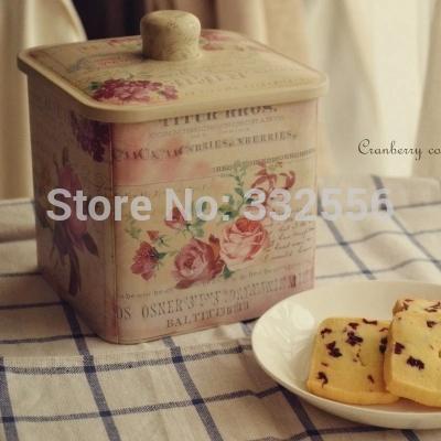 2015 Household ProductsStorage Bottles Jars 6pcs/set SquareTea caddy Storage Box Tin Candy box Biscuit boxes Biscuit tin(China (Mainland))