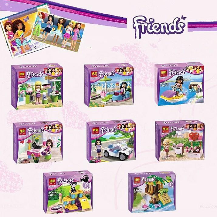 1Pcs Girl's Friends Figure Emma/Mia Cat Play Pet House Building Blocks Minifigures Model Bricks Toys Compatible with Lego(China (Mainland))