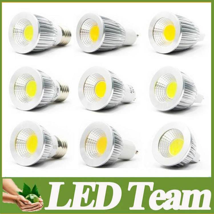 Super Bright COB GU10 Led 5W 7W 9W bulb light 60 angle dimmable E27 E26 E14 MR16 led spotlight warm/pure/cool white 110-240V 12V(China (Mainland))