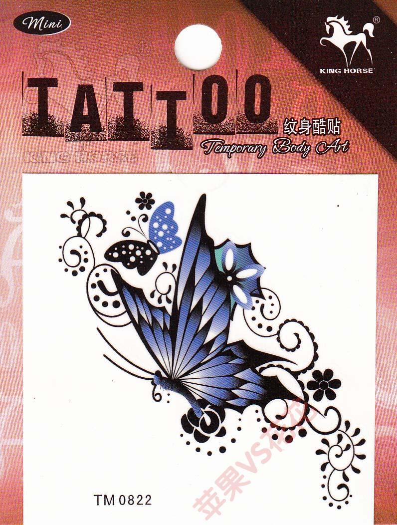 the Butterfly Tattoo Sticker waterproof female fashion small drawing hand tattoo stickers(China (Mainland))