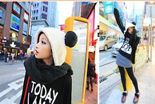 New Fluffy Cute Panda Hooded  Cartoon  Hats For Woman Free Shipping(China (Mainland))